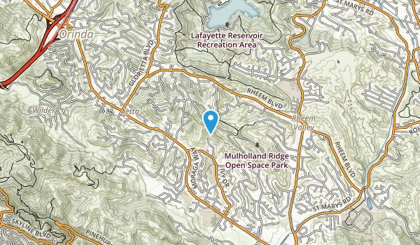 Mullholland Ridge Open Space Park Map