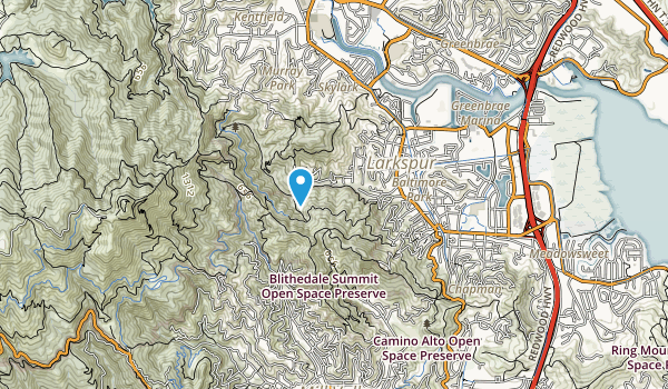 King Mountain Open Space Preserve Map
