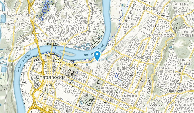 Tennessee Riverpark Map