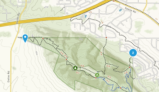 Badger Mountain Natural Preserve Map