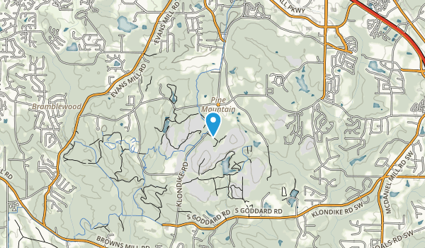 Davidson-Arabia Mountain Park Map