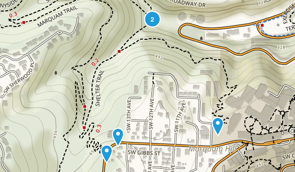 Marquam Nature Park Map