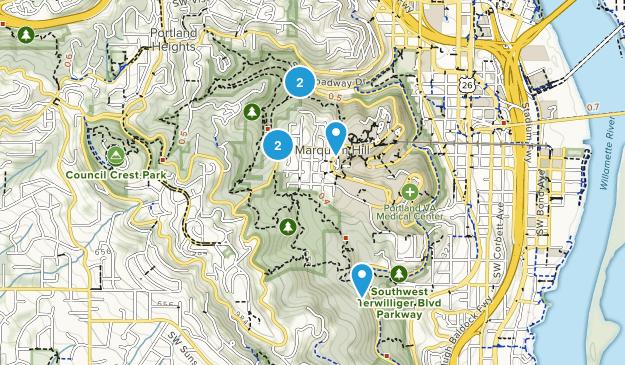 Marquam Nature Park Map