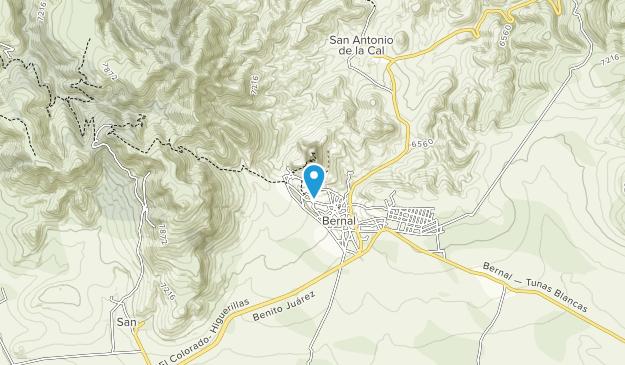 Peña de Bernal Map