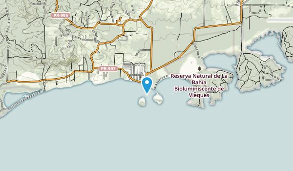 Reserva Natural de La Bahia Bioluminiscente de Vieques Map