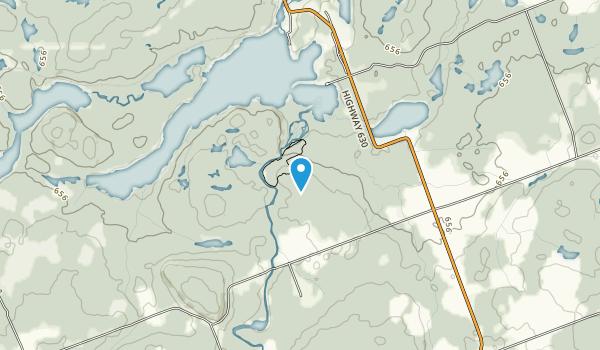 Eau Claire Gorge Conservation Area Map