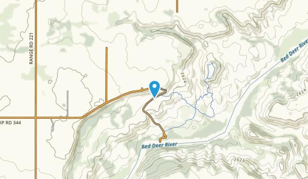 Dry Island Buffalo Jump Provincial Park Map