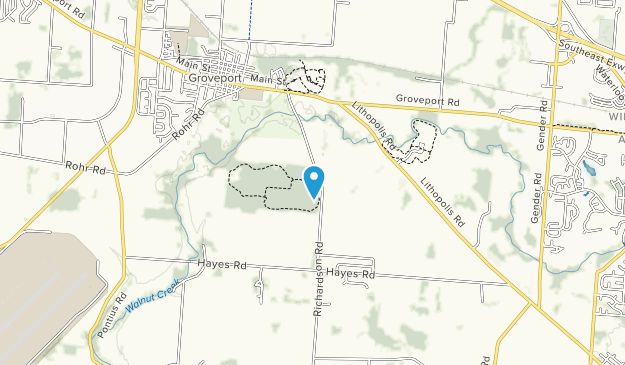 Walnut Woods Metro Park Map