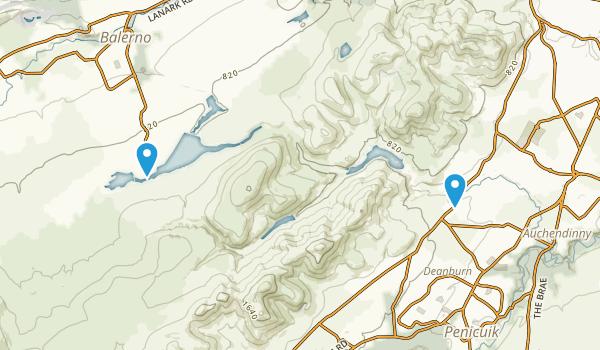 Pentland Hills Regional Park Map