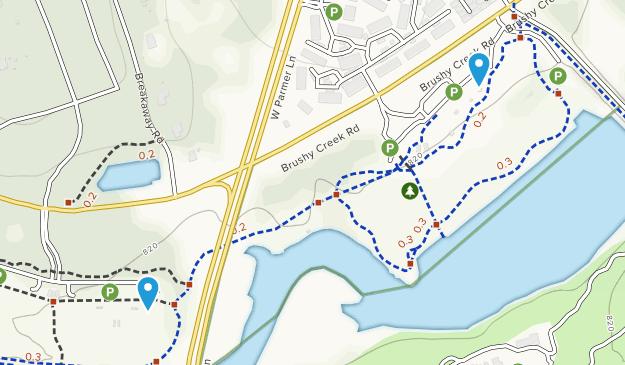 Brushy Creek Lake Park Map