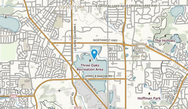 Three Oaks Recreation Area Map