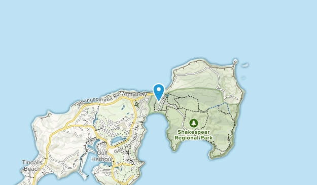 Shakespear Regional Park Map