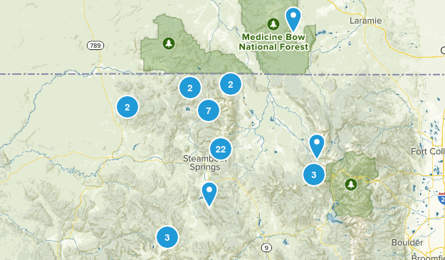 Medicine Bow-Routt National Forest Map
