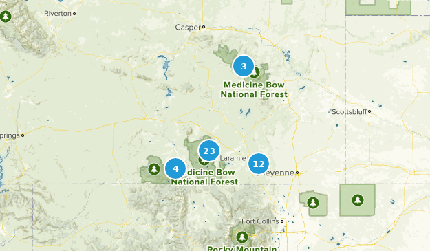 Map of Trails near Medicine Bow-Routt National Forest - Colorado ...