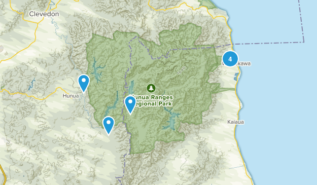 Hunua Ranges Map