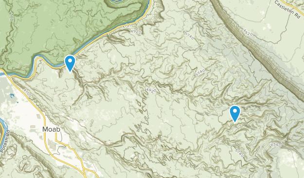 Negro Bill Canyon Wilderness Study Area Map