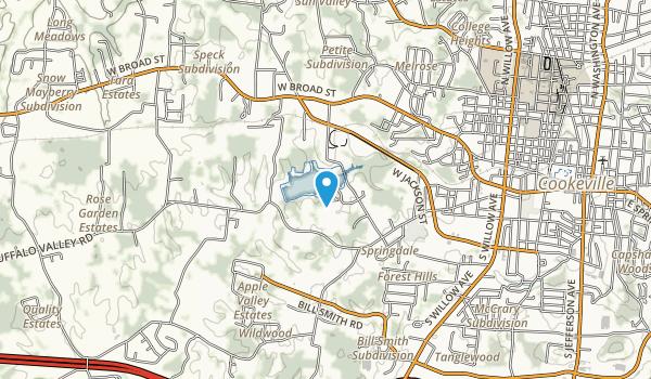 Cane Creek Park Map