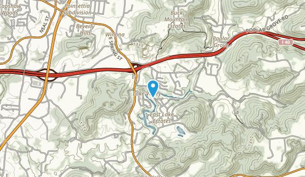 City Lake Natural Area Map