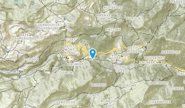 Parco Naturale del Mont Avic Map