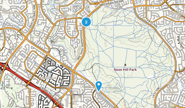 Nose Hill Park Map