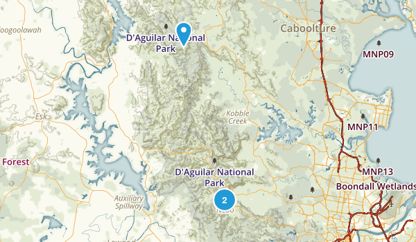 D'Aguilar National Park Map