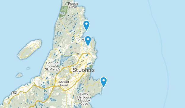 East Coast Trails (Newfoundland) Map
