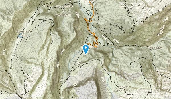 Reserve Naturelle de Sixt-Passy Map