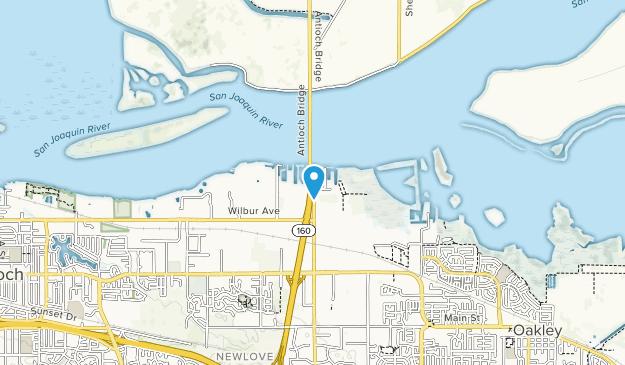 Antioch - Oakley Shoreline Map