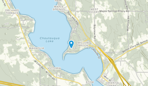 Long Point on Lake Chautauqua State Park Map