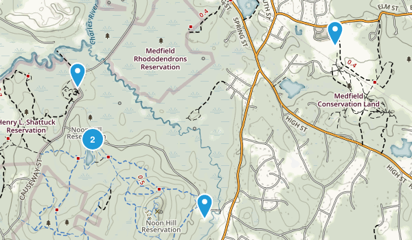 Medfield Conservation Land Map