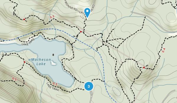 Matheson Lake Regional Park Map
