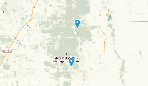 Mars Hill Wildlife Management Area Map