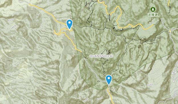 Zhangjiajie National Forest Park Map