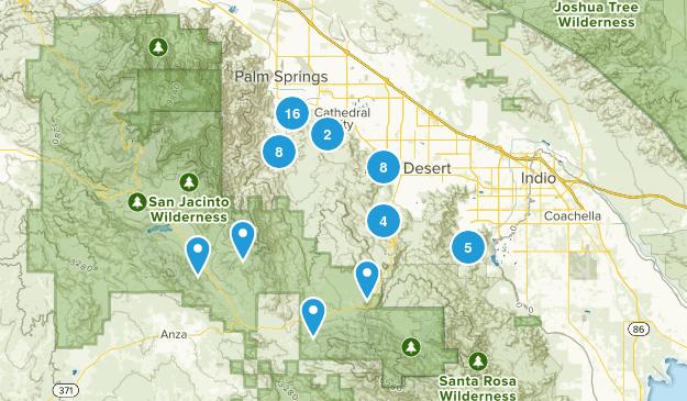 Santa Rosa and San Jacinto Mountains National Monument Map