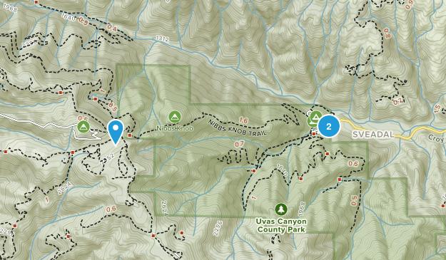 Uvas Canyon County Park Map