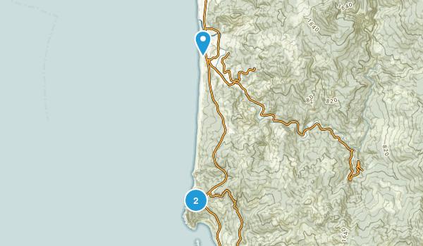 Cape Sebastian State Park Map