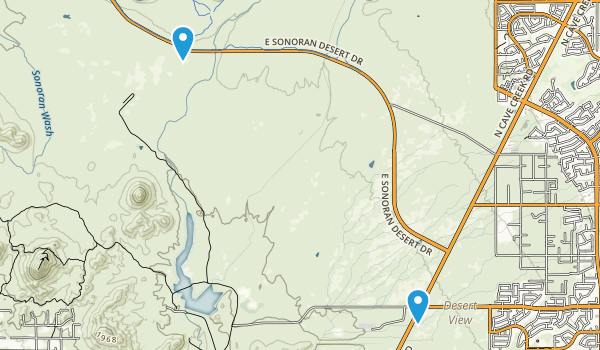 Cave Buttes Recreation Area Map