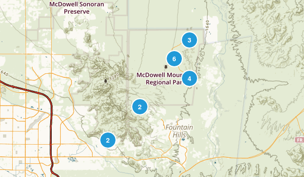 McDowell Mountain Regional Park Map