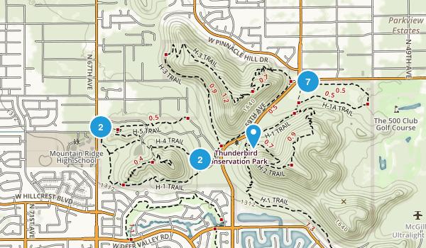 Thunderbird Conservation Park Map