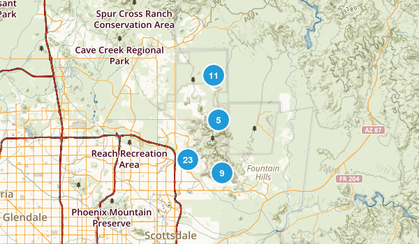 McDowell Sonoran Preserve Map