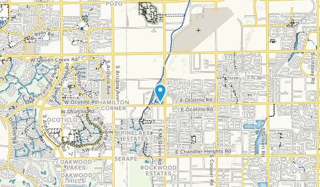 Paseo Vista Recreation Area Map