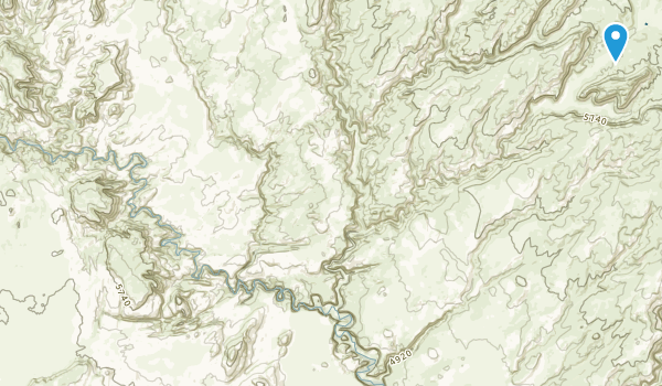 North Escalante Canyons Study Area Map