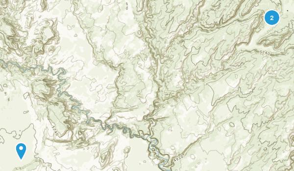 North Escalante Canyons Study Area Map