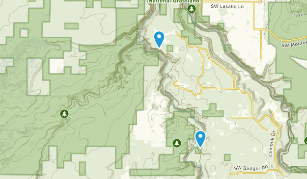 Deschutes Canyon- Steelhead Falls Wilderness Study Area Map