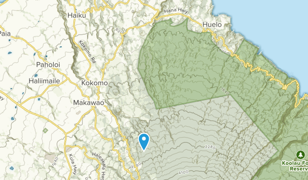 Makawao Forest Reserve Map
