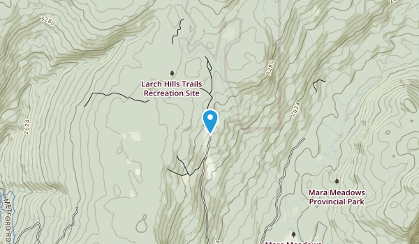 Larch Hills Trails Recreation Site Map