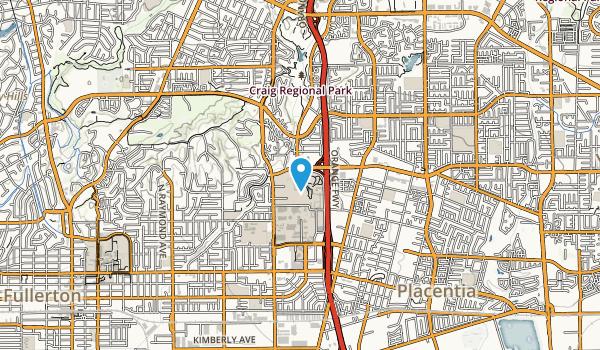 California State University Fullerton Map