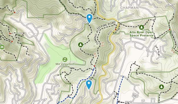 Camino Alto Open Space Preserve Map