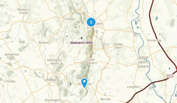 Malvern Hills Map