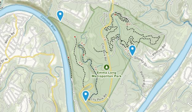 Emma Long Metropolitan Park Map
